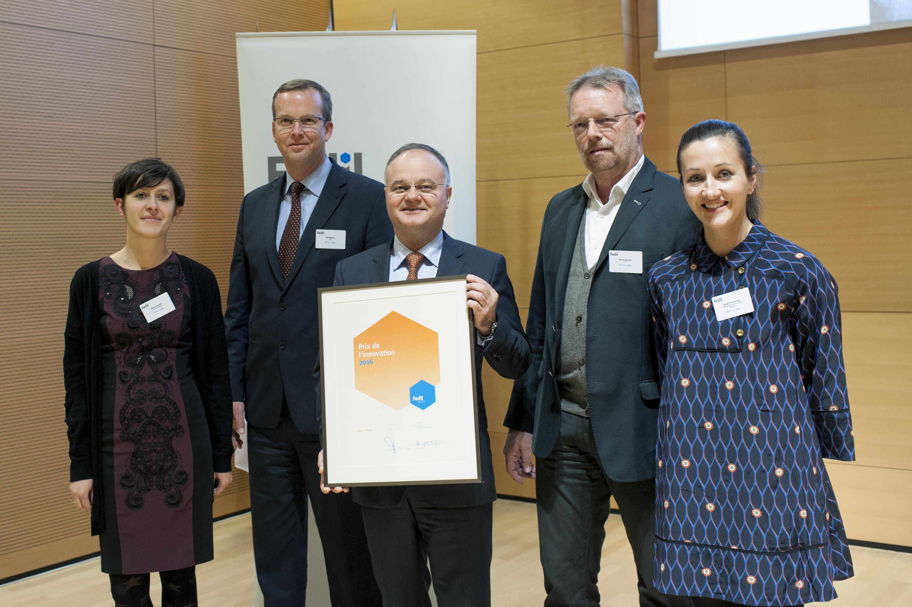 APATEQ, Prix de l'innovation dans la catégorie « Start-up » de la FFEDIL 2016