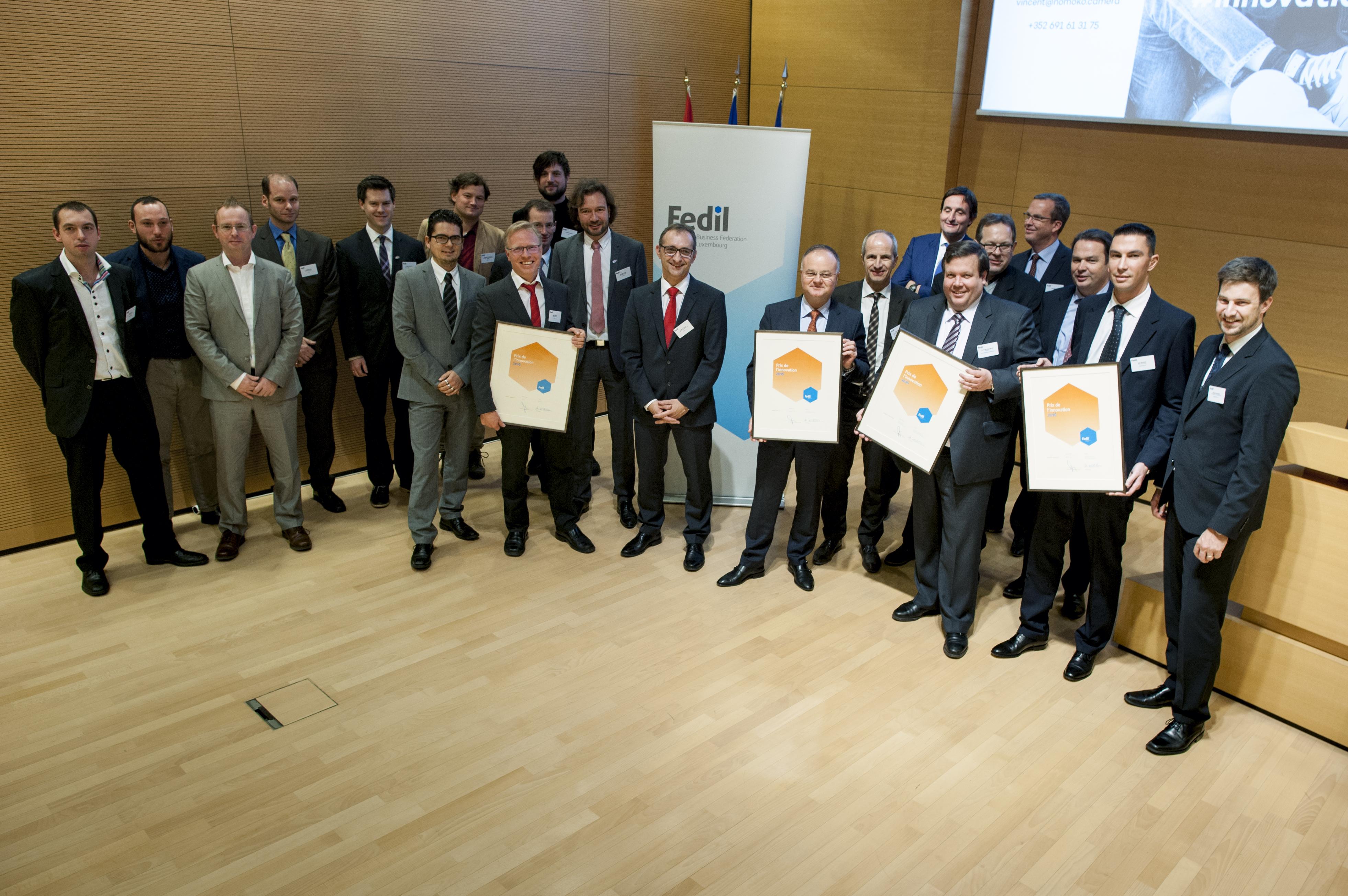 Les lauréats du Prix de l'innovation 2016 de la FEDIL